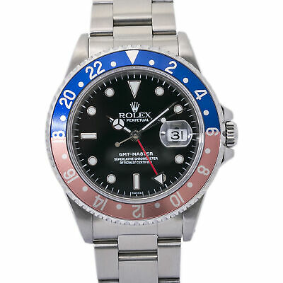 $ CDN14677.77 • Buy Rolex GMT-Master 16700 W/Papers Vintage Faded Pepsi Mens Automatic Watch 40mm