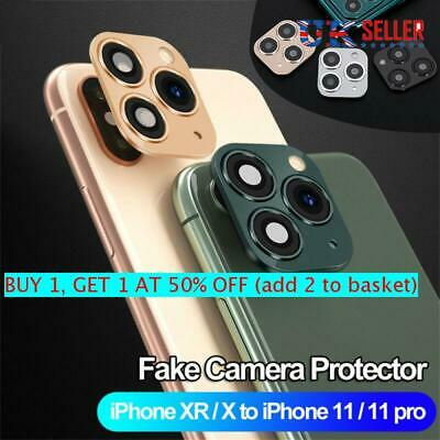 Fake Camera Lens Sticker Seconds Change For IPhone X To IPhone 11 Pro Max UK • 3.55£