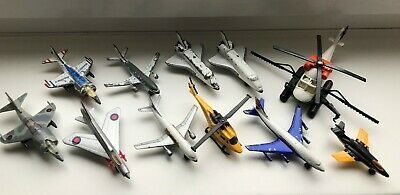 Matchbox/Matchbox Superking Toys Job Lot Of 11 Mixed Planes & Helicopters • 0.99£