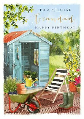 Birthday Card - Grandad - Shed In The Garden - At Home Ling Design Quality NEW • 2.55£