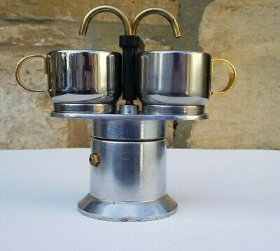 View Details Vintage Rare Bialetti Espresso Coffee Maker Stove Top Two Spouts And 2 Cups • 54.00£