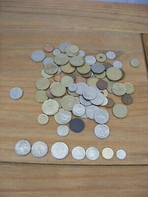MIXED LOT OF FOREIGN COINS , INC. 2 USA DOLLARS , CANADA AND CYPRUS COINS +419g  • 8£