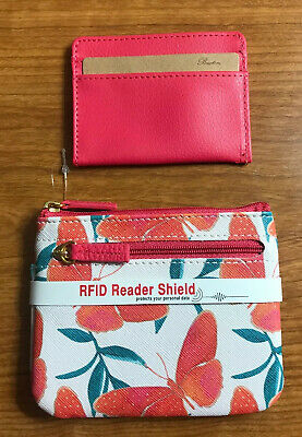 $15 • Buy Buxton Women's Multi-Colored Butterfly RFID-Blocking Coin Case-NWOT