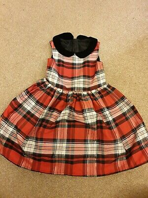 Toddler Girls Red Checked Party Dress 2-3 Years Mothercare • 2.50£