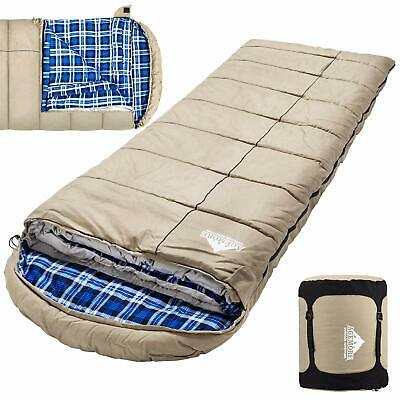 $134.69 • Buy Agemore 0 Degree Canvas Sleeping Bag For Fishing Hunting Traveling And Campin...