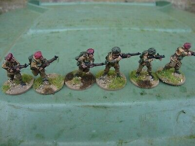 Ww2 28mm British Paratroop Infantry Section No.2+ Officer - Pro Painted • 15.99£