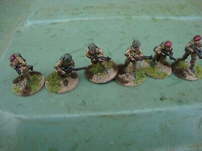 Ww2 28mm British Paratroop Infantry Section No.3+ Officer - Pro Painted • 15.99£