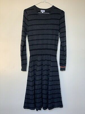 Brora Merino Wool Dress, Charcoal, Size 12. Used, Very Good Condition. • 5.50£