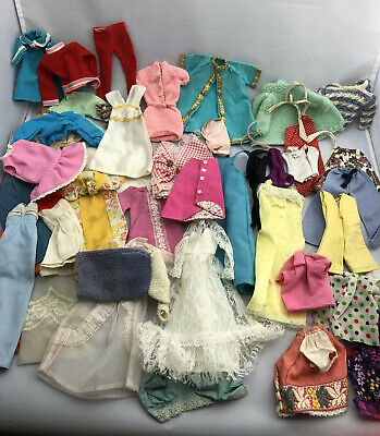 $ CDN13.89 • Buy Large Vintage Barbie Doll Clothes Lot Well Loved TLC Barbie Clothing Lot SNK