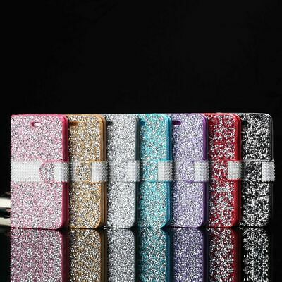 AU12.99 • Buy Bling Glitter Diamond Case Cover Wallet Flip Stand  For IPhone 6 6P 7 7P 8 8P