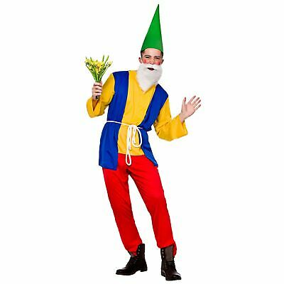 Adults Mens Funny Garden Gnome Fancy Dress Up Party Halloween Costume Outfit New • 20£