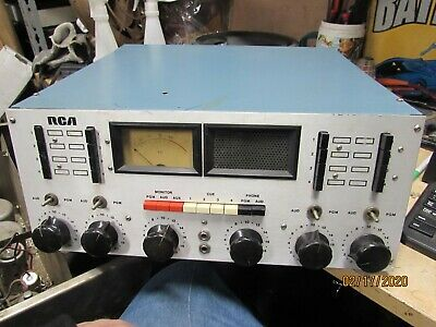 $46 • Buy Vintage Rca Phone Cue Monitor Audio Program 4 Channel Console Silver Face Pics