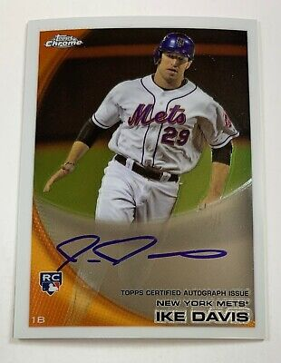 $5 • Buy 2010 Topp Chrome #184 Ike Davis Autograph Auto Card  AR21
