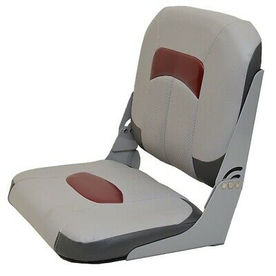 $ CDN163 • Buy Wise Seating Boat Folding Seat | Tracker Marine 174727 Gray Red