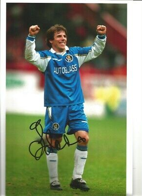 Gianfranco Zola Chelsea 10 X 8 Inch Hand Signed Authentic Football Photo SS074B • 20.99£