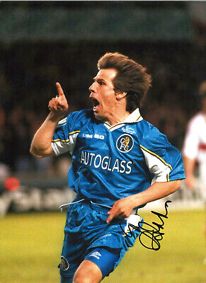 Gianfranco Zola Chelsea 16 X 12 Inch Hand Signed Authentic Football Photo SS075 • 20.99£