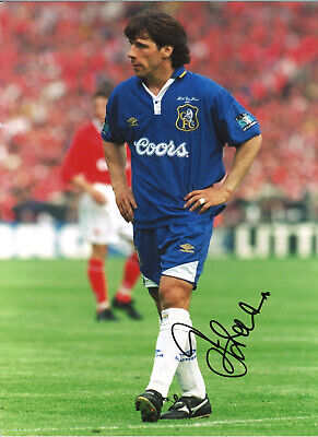 Gianfranco Zola Chelsea 16 X 12 Inch Hand Signed Authentic Football Photo SS075B • 20.99£