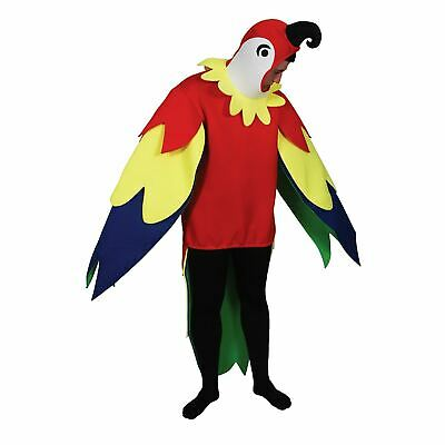 Adults Giant Parrot Bird Funny Fancy Dress Up Party Halloween Costume One Size • 30.07£
