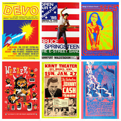 £4.99 • Buy Band & Music Vintage Posters Vol.5 Grunge Rock Blues Decor Cafe Disco Shop Wall