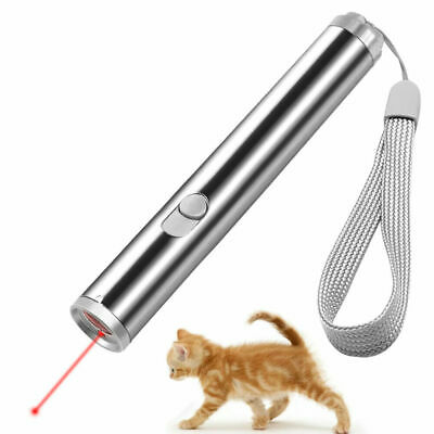 Laser Teaser Pen Cat Kitten Fun Exercise Play Toy Mouse Projecting Flash Pointer • 2.29£
