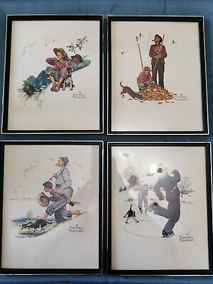 $ CDN24.95 • Buy 1970's Norman Rockwell Grandpa & Me Embossed Print Set Of 4