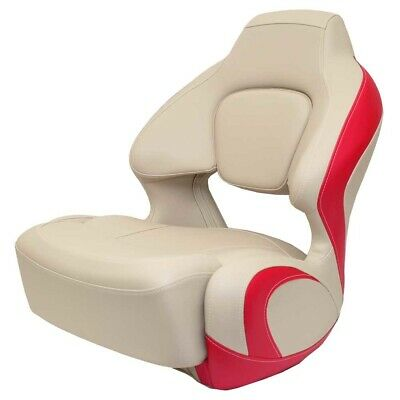 $ CDN872.63 • Buy Chaparral Boat Captains Helm Seat 31.00972   H2O Bolster Beige Red
