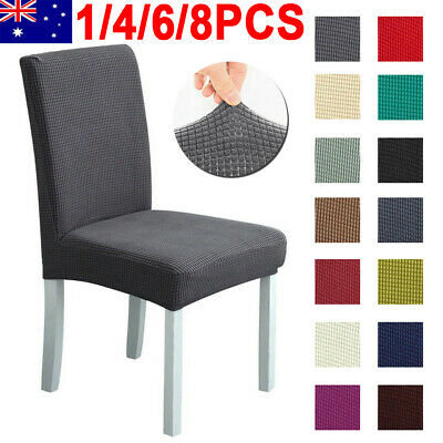 AU37.99 • Buy 1-8PCS Stretch Chair Cover Washable Removable Slipcover Banquet Furniture Covers