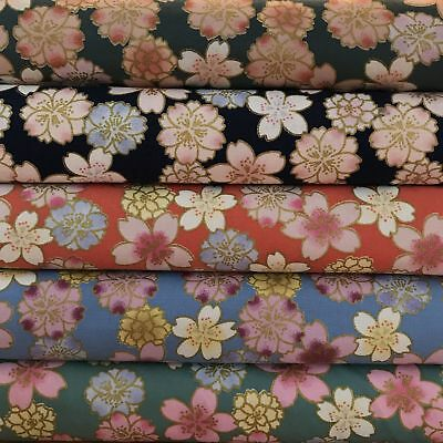 Japanese Tsubaki Floral Blenders 100% Cotton Fabric FQ Craft Quilt Patchwork • 2.99£
