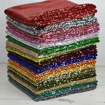 Sequin All-Over Stitched Showtime Dress Dance Fabric 54  Wide - Sold Per Metre • 8.95£