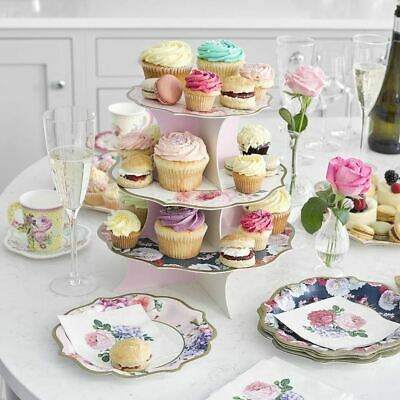 £12.95 • Buy Truly Scrumptious Reversible Cake Stand 3 Tier Tea Party