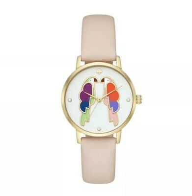 $ CDN80.34 • Buy NWT Kate Spade Metro Parrot Pink Leather Band Watch KSW1521 $195