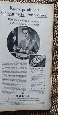 $ CDN26.41 • Buy Original 1955  ROLEX Chronometer Watch Print Ad. Rolex For Women. Ephemera