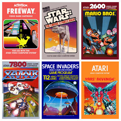 £8.99 • Buy ATARI GAME POSTERS A3 Vintage Retro Game Bedroom Decor Cafe Shop Wall Kids Gamer