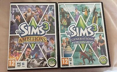 The Sims 3 Expansion Pack Ambitions & Generations. Sims 3 Mac Or Pc. • 6.99£
