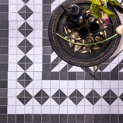 Chateau Side / Corner Mosaic Patterned Porcelain In / Outdoor Border Tiles • 4.50£