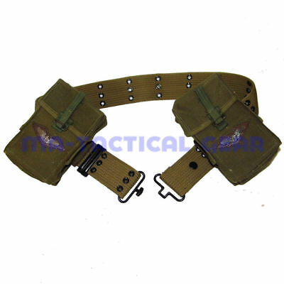 $26.99 • Buy   Vietnam War Wwii Us Army Soldier S Belt And M14 Ammo Pouch Magazine Bag Set