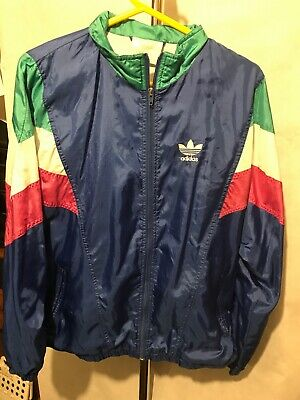 Vintage Adidas Blue Shell Suit Track Top Jacket Size S G458 • 19.99£