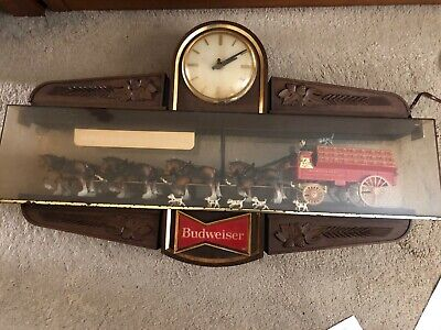 $ CDN755.75 • Buy ANTIQUE-Vintage Budweiser Clydesdale Horse And Wagon (indoor) Clock.