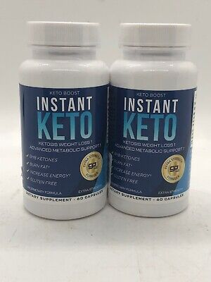 $19.11 • Buy Instant Keto - Keto Boost Weight Loss Go BHB 60 Capsules New Lot Of 2
