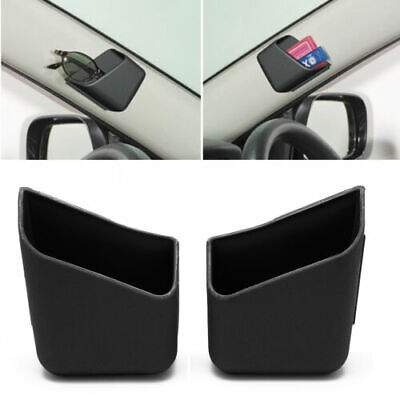 $11.89 • Buy 2X Universal Car Auto Accessories Glasses Organizer Storage Box Holder Black