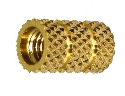 £4.59 • Buy Threaded Brass Inserts Mold-in Thermoplastic Knurled Inserts M3 M4 M5 M6