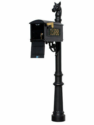 $629.20 • Buy Lewiston Equine Mailbox Post System With Locking Insert, Fluted Base, Horsehe...