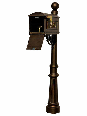 $616.30 • Buy Lewiston Equine Mailbox Post System With Locking Insert, Fluted Base, Ball Fi...
