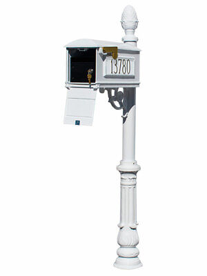 $616.30 • Buy Lewiston Equine Mailbox Post System With Locking Insert, Ornate Base, Pineapp...