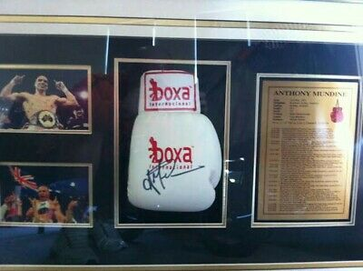 AU1000 • Buy Signed Boxing Glove Anthony The Man Mundine
