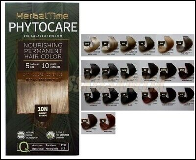 £6.82 • Buy Herbal Time PHYTOCARE Nourishing Permanent Hair Color With 5 Natural Oils Shades