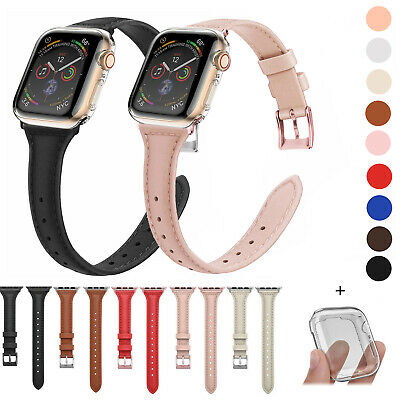 $ CDN14.66 • Buy Slim Leather Band + Full Body Case For Apple Watch Series 5 4 3 2 1 IWatch Strap