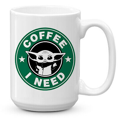 $12.49 • Buy STARBUCKS Baby Yoda Coffee Mug 15 Ounces Funny Star Wars Mandalorian Coffee Mug