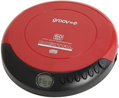 Groove Retro Series Personal CD Player Compact Disc Discman Red • 23.99£