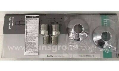 Hansgrohe 94140000 S-Union Set Inc. FIXING COVERS - Bath And Shower Spare Parts • 6.99£